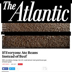 Substituting Beans for Beef Would Help the U.S. Meet Climate Goals - The Atlantic