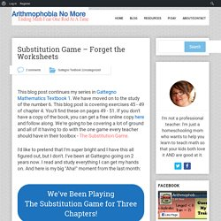 Substitution Game – Forget the Worksheets