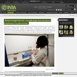 INRA 27/09/17 Biotechnologie blanche : nouvelle étape franchie dans la substitution à la pétrochimie