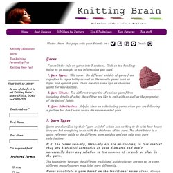 Knitting Yarn Substitution Guide. Choosing Yarns + Substituting Yarns