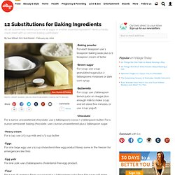 12 Substitutions for Baking Ingredients