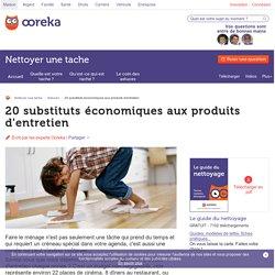 20 substituts économiques aux produits d'entretien - Ooreka