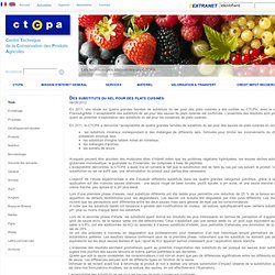 CTCPA 06/09/12 Des substituts du sel pour des plats cuisinés