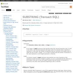SUBSTRING (Transact-SQL)