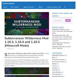Subterranean Wilderness Mod 1.16.3, 1.16.4 And 1.16.5 (Minecraft Mods) - Technodani