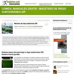 Macetero de riego subterráneo SIP - Bajatec Manuales: Soluciones caseras sostenibles.