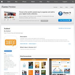 Subtext for iPad on the iTunes App Store