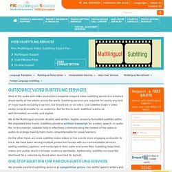 video editing services company