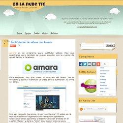 Subtitulación de vídeos con Amara