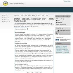 Stafett i addisjon, subtraksjon eller multiplikasjon