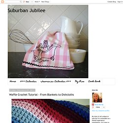 Waffle Crochet Blanket