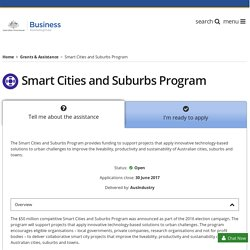 Smart Cities and Suburbs Program