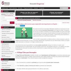 Granada Empresas - Las 10 ayudas y subvenciones para emprender más importantes en España