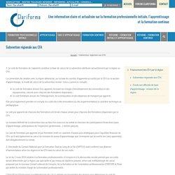 Subvention régionale aux CFA - Clariforma