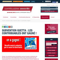 Subvention Guetta : les contribuables ont gagné !Contribuables Associés
