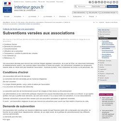 Subventions versées aux associations / Collecte de fonds par une association / Financement d'une association