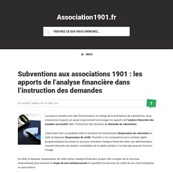 Subventions aux associations 1901 : les apports de l'analyse financière dans l'instruction des demandes