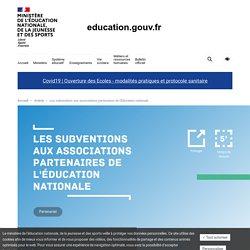 Les subventions aux associations partenaires de l'Éducation nationale