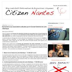 Subventions aux associations allouées par le Conseil Général de Loire -Atlantique