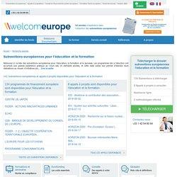 Liste des Subventions européennes pour l'Education et la Formation