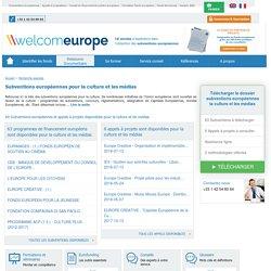 Liste des subventions européennes pour les activités culturelles, la culture et les média