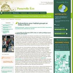 Subventions pour habitat groupé en Côtes d'Armor - Habitat Groupé