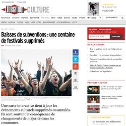 Baisses de subventions: une centaine de festivals supprimés