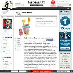 Subventions : la presse passe au contrôle
