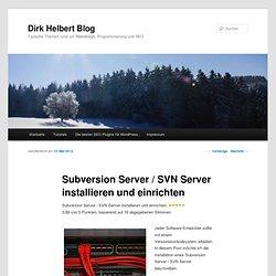Subversion Server / SVN Server installieren und einrichten