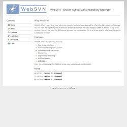 WebSVN - Online subversion repository browser