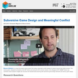 Subversive Game Design and Meaningful Conflict