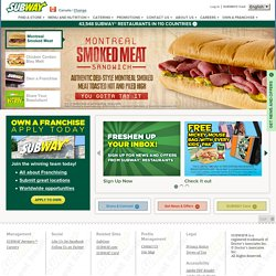 Home | SUBWAY.com