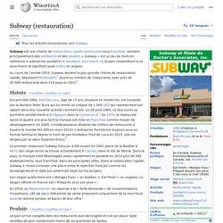 Subway (restauration)
