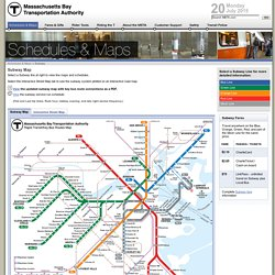 Subway 'The 'T' > Maps, Schedules, and Fare Information for the Boston Area Subway System