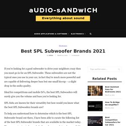 Best SPL Subwoofer Brands 2021 – Audio Sandwich