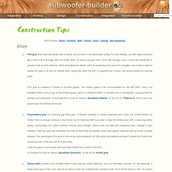 Subwoofer construction tips