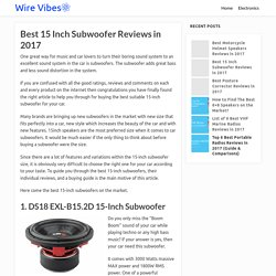 Best 15 Inch Subwoofer Reviews in 2017