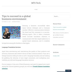 Tips to succeed in a global business environment