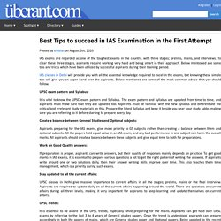 Best Tips to succeed in IAS Examination in the First Attempt