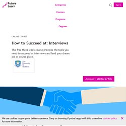 How to Succeed at: Interviews - Online Course