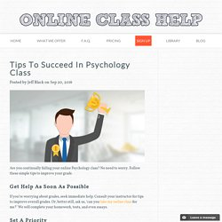 Tips To Succeed In Psychology Class