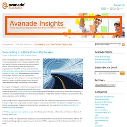 Succeeding in a Data-Driven Digital Age - Avanade Insights