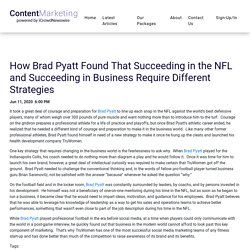 How Brad Pyatt Found That Succeeding in the NFL and Succeeding in Business Require Different Strategies - iCrowdMarketing