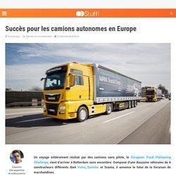 Succès pour les camions autonomes en Europe