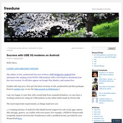 Success with USB 3G modems on Android