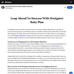 Leap Ahead To Success With Hostgator Baby Plan on Behance