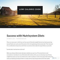 Success with Nutrisystem Diets