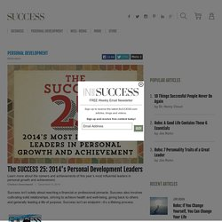 The SUCCESS 25: 2014's Personal Development Leaders