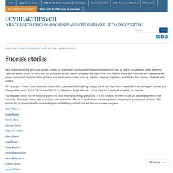 Success stories « covhealthpsych