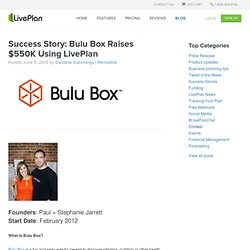 Success Story: Bulu Box Raises $550K Using LivePlan